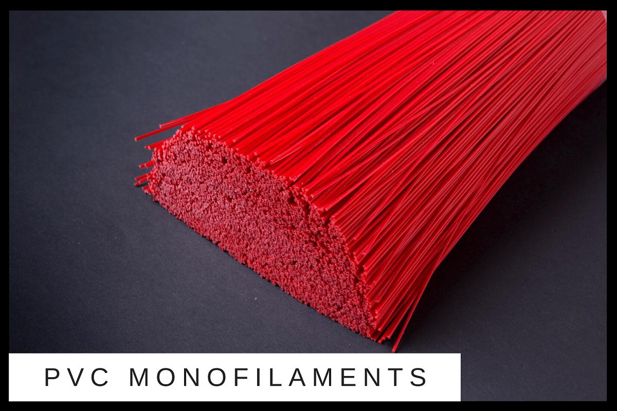 pet monofilaments pp pvc recyle virgin flaggable crimped straight synthetic bristle